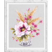 Гоблен Чудесная игла 100-015 Мак и розови карамфилчета