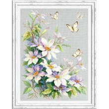 Гоблен Чудесная игла 100-062 Клематис и пеперуди