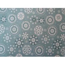 Плат Poplin бели орнаменти на сиво-зелен фон - 50 х 50 см