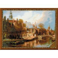 Гоблен Риолис 1189 Амстердам- старата църква по картина на Клинкенберг