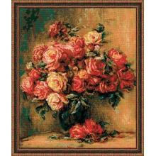 Гоблен Риолис 1402 Букет от рози по картина на Реноар