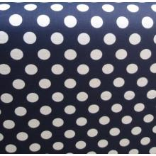 Плат Poplin Пойс 32 - 50 х 50 см големи бели точки на син фон