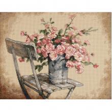 Гоблен Dimensions 35187 - Рози на градински стол