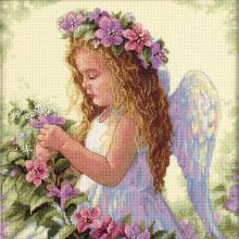Гоблен Dimensions 35229 - Ангел сред цветята