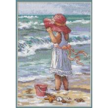Гоблен Dimensions 65078 - Момиченце на плажа