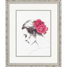 Гоблена Dimensions 70-35379 - Портрет с цветя