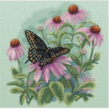Гоблен Dimensions 35249 - Пеперуда и ехинацея