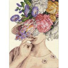 Гоблен Dimensions 70-65209 - С шапка с цветя