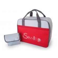 Чанта за шевна машина сиво-червена