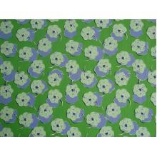 Плат Дания - Зелено-лилави цветя, 55 х 45 см
