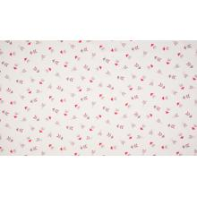 Плат Poplin0203-023 Лилаво-червени стрелички на бял фон - 50 х 50 см