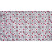 Плат Poplin 0203-033 Лилави, червени и бели квадрати - 50 х 50 см