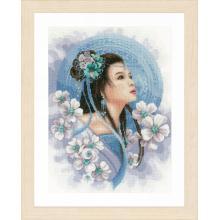 Гоблен Ланарте PN-0169168 - Азиатка в синьо