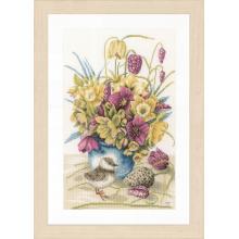 Гоблен Ланарте PN-0169671 - Цветя и врабче