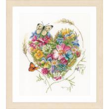 Гоблен Ланарте PN-0169960 - Сърце от цветя