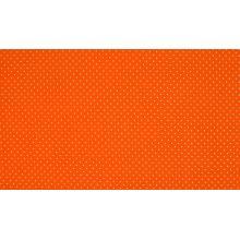 Плат Poplin Оранж на малки бели точки - 50 х 50 см