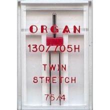Двойна игла Organ TWIN-STRETCH за трико - 75/4