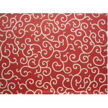 Плат Дания - Орнаменти на червеникаво кафяв фон, 55 х 45 см