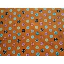 Плат Poplin Swinging Roun - Кръгове на оранжев фон 50 х 46 см