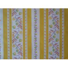 Плат Poplin Karina 1475674-107 Жълто-бяло рае на цветя 50 х 50 см