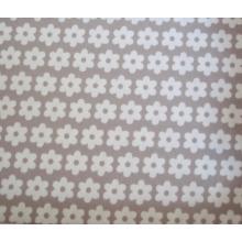 Плат Poplin сиво-бежов на цветенца - 50 х 50 см