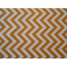 Плат Poplin бяло-жълт зигзаг - 50 х 50 см