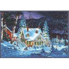 Картина - Зима у дома, Dimensions PN-0187041, 51 х 36 см
