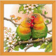 Гоблен Риолис 1780 Влюбените папагали, Lovebirds