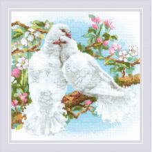Гоблен Риолис 1856 Бели гълъби White Doves