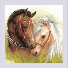 Гоблен Риолис 1864 Два коня Pair of Horses
