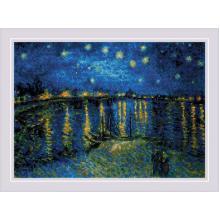Гоблен Риолис 1884 - Звездна нощ над Рона по картина на Ван Гог