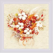 Гоблен Риолис 1913 - Зимен букет (Лагурус и памук)