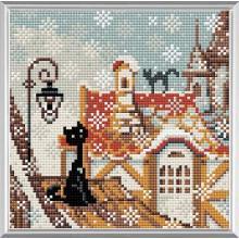 Диамантен гоблен Риолис АМ0010 Котките в града - Зима