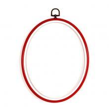 Рамка, червена, елипса 12 х 17 см, Vervaco PN-0009451, 1272/1217666