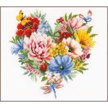 Гоблен Фервако PN-0179766, Сърце от цветя