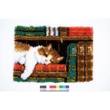Пано/Килимче Фервако PN-0149896 Latch hook Carpet Cat on Bookshelf