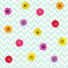 Плат Baltimore 1098 - Ярки цветя, 50 х 50 см