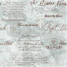 Плат Baltimore 1100 - Писмо в бутилка, сивосин фон, 50 х 50 см