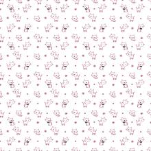 Плат Иберия - Котета на бял фон, 50 х 50 см