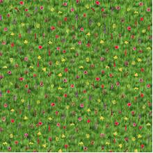 Плат Иберия - Зелени поля, 50 х 50 см