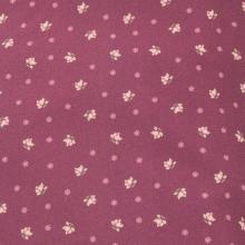 Плат Иберия - Цветлета на тъмно червено-лилав фон, 50 х 50 см