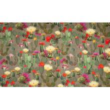 Плат Винтидж - Цъфнали кактуси, 50 х 47 см