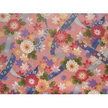 Плат Дания - Цветя на пастелно розов фон, 55 х 45 см