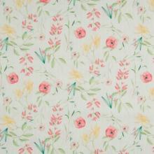 Плат Poplin - Флорално светло райе - 50 X 46 см