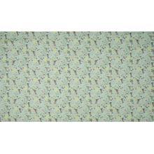 Плат Poplin - Ментово на ситни разноцветни цветлета - 50 х 46 см