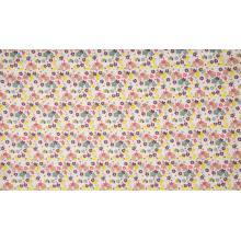 Плат Poplin - Слонова кост на цветлета - 50 х 46 см