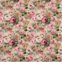 Плат Poplin - Романтика Рози на светъл фон, 50 х 46 см