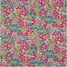 Плат Poplin - Розово-ментови цветя, 50 х 46 см