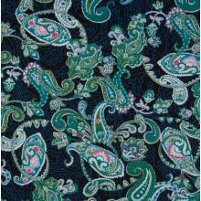 Плат Poplin - Синьо-зелен кашмир, 50 х 46 см
