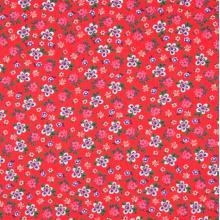 Плат Poplin - Червено на цветенца - 50 х 46 см